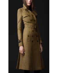 Burberry Prorsum Tailored Wool Trench Coat - Lyst