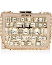 Elie Saab Box Crystal Clutch Bag gold - Lyst