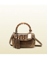 Gucci 1921 Collection Crocodile Top Handle Bag - Lyst