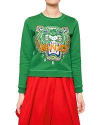 Kenzo Tiger Cotton Fleece Sweatshirt - Lyst