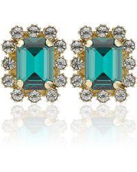 Mawi | Emerald Gemstone Clip Earrings | Lyst