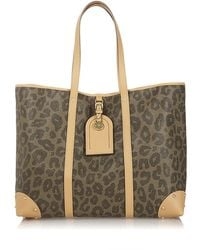 Mulberry Leopard Scotch Grain Tote - Lyst
