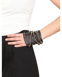 Nina Peter - Isabella Leather Fingerless Gloves - Lyst