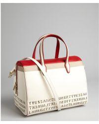 Saint Laurent  Colorblock Calfskin Flirty Bag - Lyst