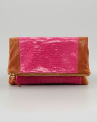 Be & D Nixie Colorblock Clutch - Lyst
