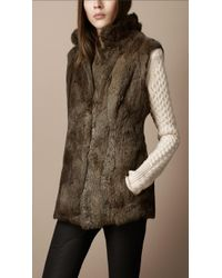 Burberry Brit - Fur Gilet - Lyst
