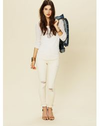 Free People Fp High Rise Skinny - Lyst