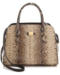 Michael Kors Collection Python Gia Satchel - Lyst