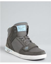 Original Penguin Leather and Canvas Moby High Top Sneakers - Lyst