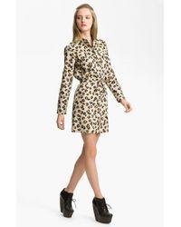 A.P.C. Leopard Print Gabardine Shirtdress - Lyst