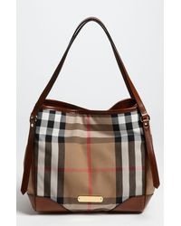 Burberry 'House Check' Tote - Lyst