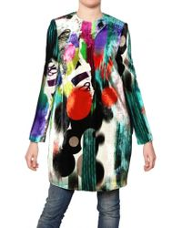 Didier Parakian - Multicolor Printed Silk Coat - Lyst