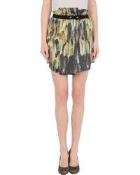 Isabel Marant Mini Skirt green - Lyst