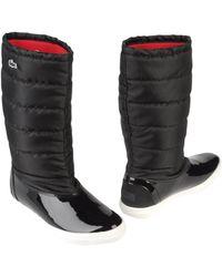 167b8097b Lyst - Women s Lacoste Boots Online Sale