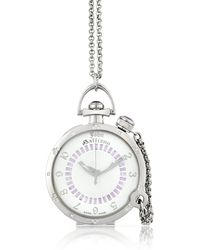John Galliano - Womens Diamond White Silver Dial Watch W Chain - Lyst