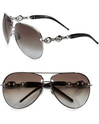 Gucci Modern Metal Aviator Sunglasses - Lyst