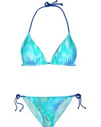 Just Cavalli Printed Triangle Bikini - Lyst