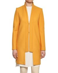 Normaluisa Blended Wool Cloth Cashmere Coat - Lyst