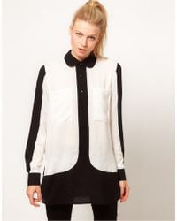 ASOS Collection Asos Shirt with Monochrome Colourblocking black - Lyst