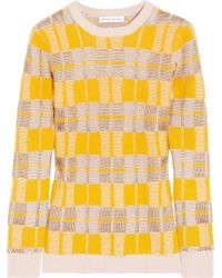 Jonathan Saunders - Checked Knitted Jumper - Lyst