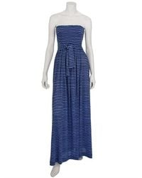 Plenty By Tracy Reese Striped Linen Jersey Smocked Maxi Dress - Lyst