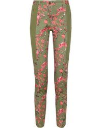 Thakoon Addition Floral print Stretch cotton Twill Pants - Lyst