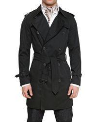 Aquascutum Techno Gabardine Trench Coat black - Lyst