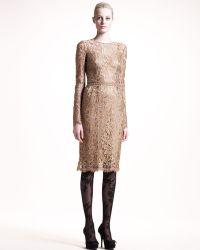 Dolce & Gabbana Longsleeve Lace Dress - Lyst