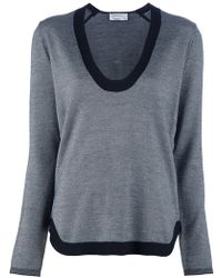 Saint Laurent Scoop Neck Jumper - Lyst
