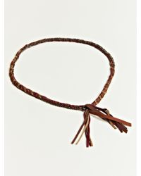 Alyssa Norton -  Unisex Braided Silk and Suede Necklace - Lyst