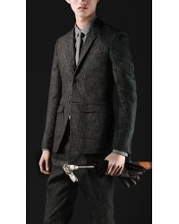 Burberry Prorsum Skinny Fit Tweed Jacket - Lyst