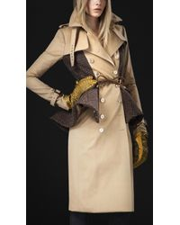 Burberry Prorsum - Wool Peplum Trench Coat - Lyst