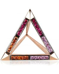 Hannah Martin Euphoria Of Lights Triangle Ring pink - Lyst