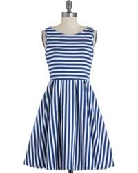 ModCloth Whats The Lineup Dress in Cobalt - Lyst