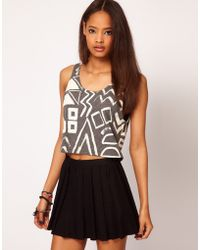 ASOS Collection Asos Vest with Multi Shapes in Texture - Lyst