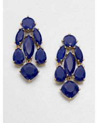 Kate Spade Faceted Cascade Earrings - Lyst