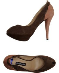 Alberto Guardiani Pumps with Open Toe - Lyst