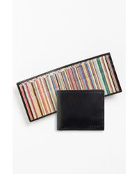 Paul Smith Ps Calfskin Leather Billfold Wallet - Lyst