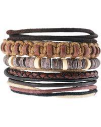 River Island - Rope Bracelet Pack - Lyst