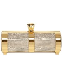Stark - Gold Panther Brass with Crystal Clutch - Lyst