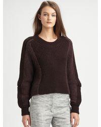 3.1 Phillip Lim Cropped Woolblend Sweater - Lyst