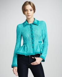 Nanette Lepore Summer Flame Paisleylace Jacket - Lyst