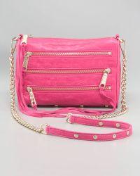 Rebecca Minkoff Mini Mac Bag Pink - Lyst