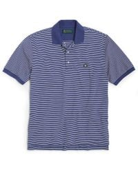 Brooks Brothers St Andrews Links Feed Stripe Polo - Lyst