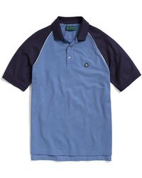 Brooks Brothers St Andrews Links Pique Raglan Twotone Polo - Lyst