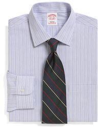 Brooks Brothers Supima Cotton Noniron Regular Fit Alternating Stripe Dress Shirt - Lyst