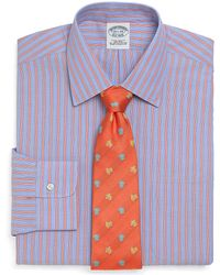 Brooks Brothers Supima Cotton Noniron Extraslim Fit Bold Triple Stripe Dress Shirt - Lyst