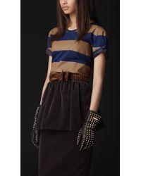 Burberry Prorsum Striped Cotton Tshirt - Lyst