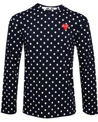Play Comme des Garçons Play Mens Dot T-Shirt Navy - Lyst