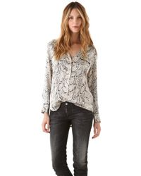 Equipment Keira Python Blouse - Lyst